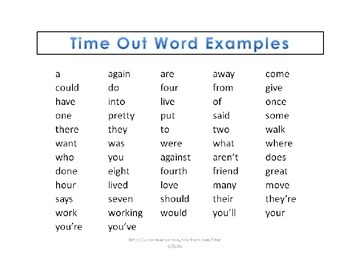 Word Wall {Rule Breaker Words}