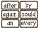 Safari Word Wall