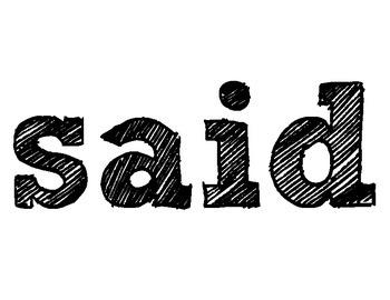 Word Wall: Said