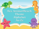 Word Wall-Sea Animal/Beach Theme Alphabet