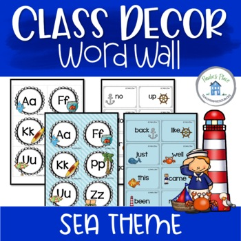Word Wall - Sea Theme