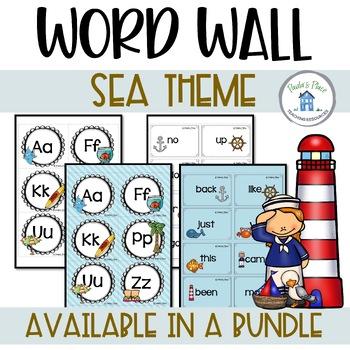 Word Wall Sea Theme