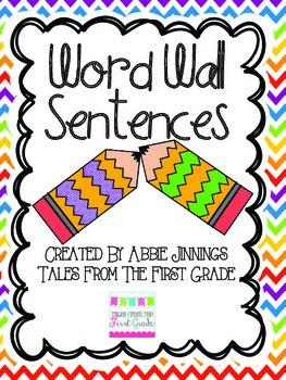 Word Wall Sentences