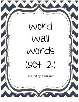 Word Wall Set 2 Nautical Theme