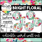 Word Wall Set: Bright Floral | Classroom Decor