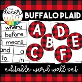 Word Wall Set: Buffalo Plaid   Classroom Decor