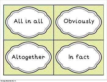 Word Wall Set- Closing Words