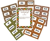 Word Wall Set- Dolch (Brown and multi-colored dots)