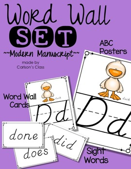 Word Wall Set -- Modern Manuscript