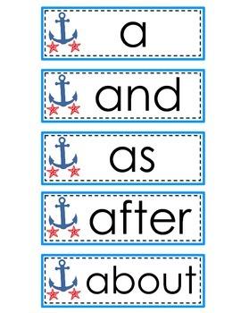 Word Wall Set Nautical Ocean Theme