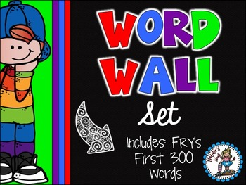 Word Wall Set {Rainbow Kidlettes}
