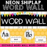 Word Wall Setup (Neon Shiplap)