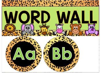 Word Wall Setup and Cards {Jungle-Safari Themed}