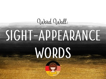 Word Wall: Sight - Appearance Words