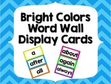 Word Wall Sight Word Cards