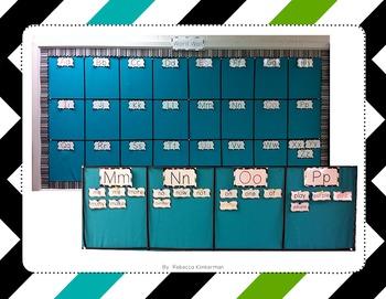 Word Wall Sight Word Cards - Chevron Border
