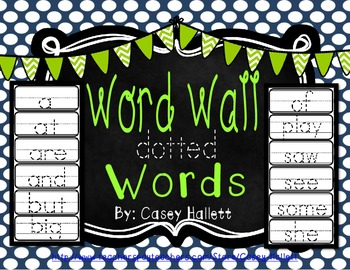 Word Wall Sight Words {Kindergarten}