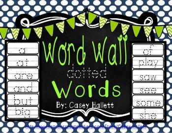 Word Wall Sight Words {Kindergarten}