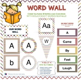Word Wall Sight Words in Crisp Autumn Stripes and Chevron