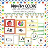 Word Wall Sight Words in Primary Colors {Editable!}