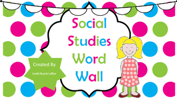 Word Wall: Social Studies Question Words