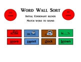 Word Wall Sort Initial Consonant Blends