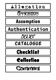 Word Wall Sort - Reference Bibilography Citation
