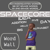 Word Wall | Space Theme | Kindergarten, First, and Second Grades