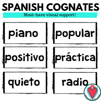 Spanish Cognates WORD WALL