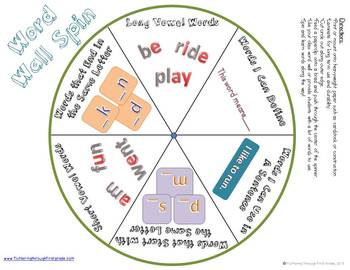 """Sight Word Activities """"Word Wall Spin"""" ~ A Differentiated Word Work Activity"""
