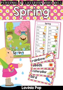 Spring Word Wall Vocabulary