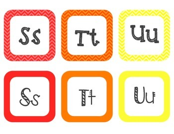 Word Wall Square Alphabet