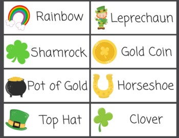Word Wall St Patrick's Day