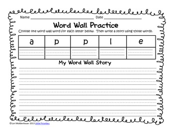 Word Wall Stories
