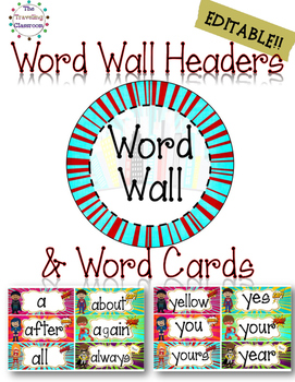 Word Wall Set {Super Hero}