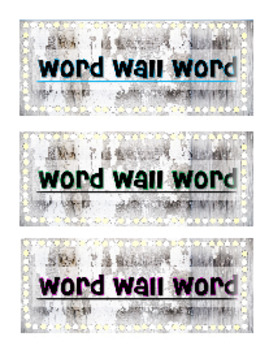 Word Wall Tags