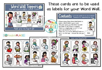 Word Wall Tags with Editable Word Cards