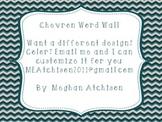 Word Wall- Teal