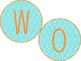 Word Wall Teal and Orange