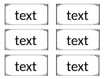Word Wall Template