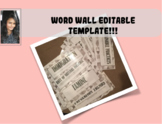 Word Wall Template (Black and White)