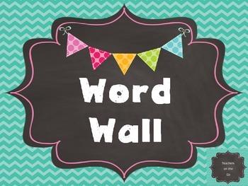 Word Wall Template {Chalkboard Rainbow}