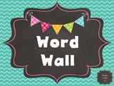 Word Wall Template {Chalkboard Rainbow}