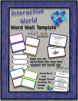 Go Tech Word Wall Template Editable By Science Interactive World