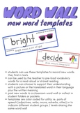 Word Wall Templates - New Words