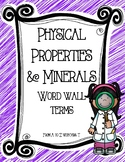 Word Wall Terms/Definitions/Pictures for Unit on Minerals/