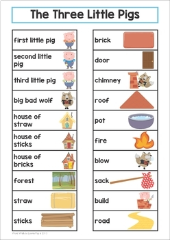 The Three Little Pigs Word Wall