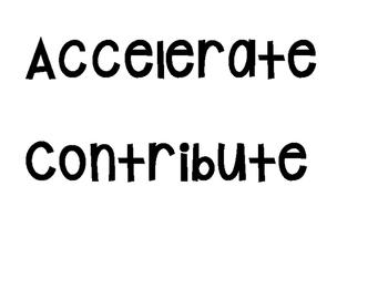 Word Wall (Tier 2 - Common language)