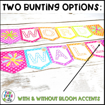 Word Wall Title Banner and Letter Headers {Bright Polka Dot}