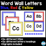Word Wall Title and Letters in Primary Colors (Red, Yellow